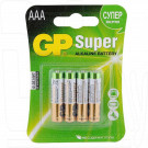 GP Super LR03 BP4 AAA  упаковка 4шт