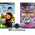 Видеокамера PSP Slim + игра EyePet + игра Invizimals (русская версия)