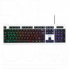 Клавиатура Гарнизон GK-110L черно-белая с подсветкой