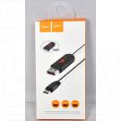 Кабель USB A - micro USB B (1,2 м) Hoco. U29 с дисплеем
