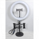 Кольцевая светодиодная селфи лампа YBG-1498 26 см с настольным штативом