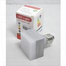 Квадратный светодиоидный светильник 9W E27 6500K