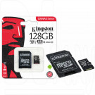 microSD 128Gb Kingston Class 10 UHS-I U1 с адаптером