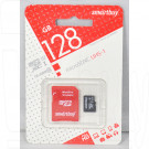 microSD 128Gb Smart Buy Class 10 UHS-I с адаптером