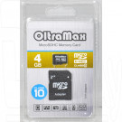 microSD 4Gb OltraMax Class 10 с адаптером