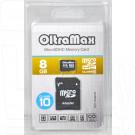 microSD 8Gb OltraMax Class 10 с адаптером