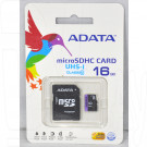 microSDHC 16Gb A-Data Class 10 Premier UHS-1 с адаптером