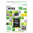 microSDHC 16Gb Mirex Class 10 с адаптером