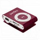 MP3 Perfeo Music Clip Titanium бордовый