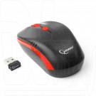 Мышь беспроводная Gembird MUSW-350 черно-красная с зарядкой
