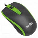 Мышь Perfeo Profil черно-зеленая