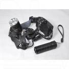 Налобный фонарь аккумуляторный HT-563 (+ ручной)