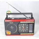 Радиоприемник Meier M-U40 (USB\SD\MP3\часы\220V) + фонарик