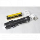 Ручной фонарь аккумуляторный H-608  micro USB