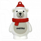 USB Flash 8Gb Smart Buy NY Series Белый Медведь