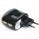 Зарядное устройство 2 USB 2A KS-is Toss черное