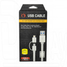 Кабель USB A - 2 in 1 (micro USB, iPhone 5) (1,5 м)