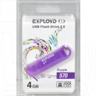 USB Flash 4Gb Exployd 570 пурпурная