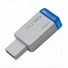 USB Flash 64Gb Kingston Data Traveler 50 металл синий 3.0