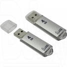 USB Flash 4Gb Smart Buy V-Cut серебряная