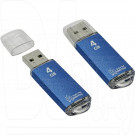 USB Flash 4Gb Smart Buy V-Cut синяя