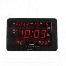 Часы электронные VST 802-W-1 настенные (часы,дата,термометр) красный