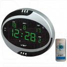 VST 770T-4 часы настольные с ярко-зелеными цифрами (говорящие, с пультом)