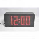 VST-871-1 часы настольные в деревянном корпусе с красными цифрами