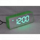 VST 886Y-4 часы настольные с ярко-зелеными цифрами