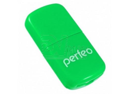 CARD READER Micro SD Perfeo PF-VI-R009 зеленый