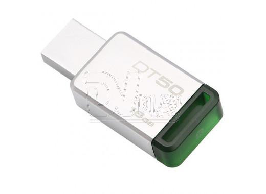 USB Flash 16Gb Kingston Data Traveler 50 металл-зеленая 3.0