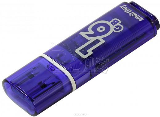USB Flash 16Gb Smart Buy Glossy темно-синяя 3.0