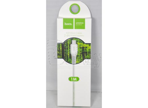 Кабель USB A - micro USB B (1 м) Hoco. X20