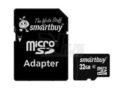 microSDHC 32Gb Smart Buy Class 10 с адаптером