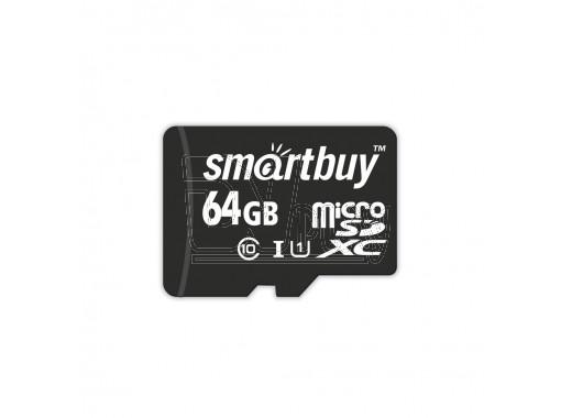 microSDHC 64Gb Smart Buy Class 10 UHS-I без адаптера