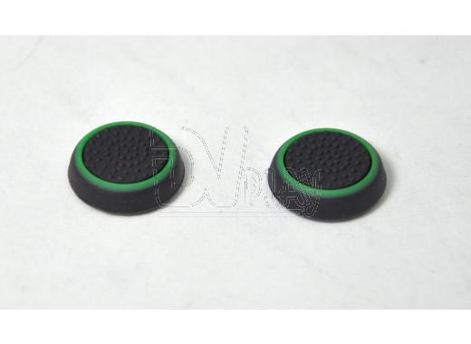 Силиконовые насадки черно-зеленые на геймпад PlayStation 4