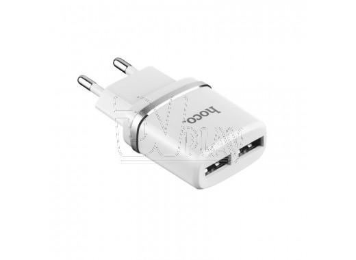 Зарядное устройство 2 USB 2.4A Hoco. C12