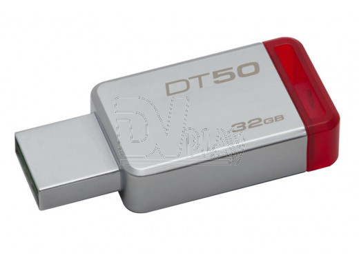 USB Flash 32Gb Kingston Data Traveler 50 металл красная 3.0