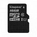 microSDHC 16Gb Kingston Class 10 UHS-I U1 без адаптера