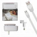 Зарядное устройство 2 USB 2.4A LDNIO A2205 + кабель microUSB