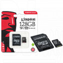 microSD 128Gb Kingston Class 10 UHS-I U1 с адаптером