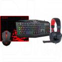 Комплект Redragon S101-BA (клавиатура + мышь + гарнитура + коврик)