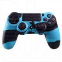 Силиконовый чехол синий камуфляж на геймпад PlayStation 4