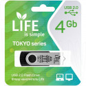 USB Flash 4Gb Life Tokyo черная