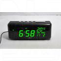 VST 762W-4 часы настольные с ярко-зелеными цифрами