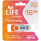 USB Flash 16Gb Life Tokyo оранжевая