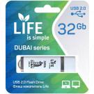 USB Flash 32Gb Life Dubai белая