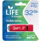 USB Flash 32Gb Life Dubai красная