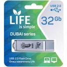 USB Flash 32Gb Life Dubai серебряная