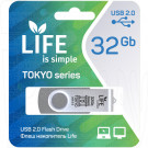 USB Flash 32Gb Life Tokyo серебряная
